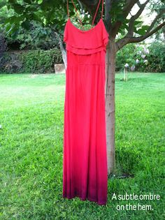 DIY Ombre Maxi Dress and pair it with some shop lately for the perfect look maxi dresses, diy tutorial, colors, diy ombr, ombr maxi, beads, diy clothes, cords, dress designs