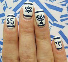 israeli-flag-nail-art
