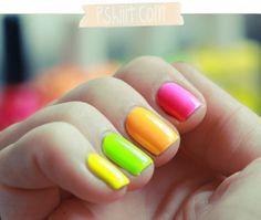 Neon polish by #AmericanApparel