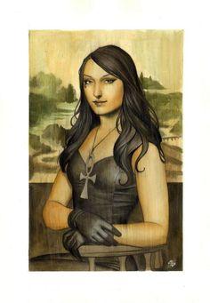 Mona Lisa / Neil Gaiman's Sandman (death)