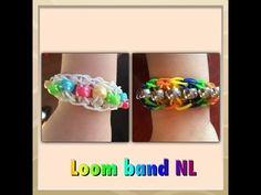 Rainbow Loom band ladder armband maken met kralen