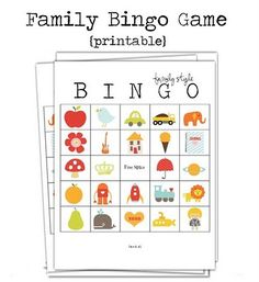 Free Printable ~ Family Bingo Game..