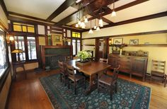 Dining Room at the Duncan-Irwin House (another grand Greene & Greene house in Pasadena, CA).