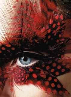 color fashion, beauty makeup, eye makeup, red, mask