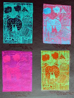 Art Room 104: 6th Grade Native American Animal Spirit Prints with accompanying rubric