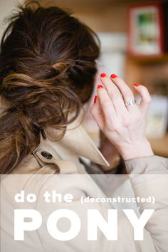 Deconstructed ponytail tutorial via witanddelight.com