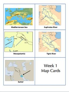 CC Cycle 1  geography cards
