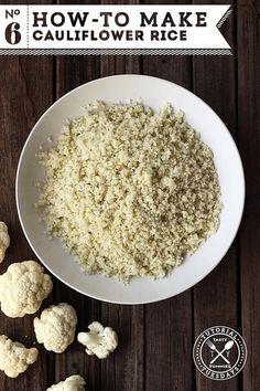 How to Make Cauliflower Rice #WhattheHack