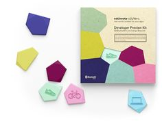 Estimote Stickers-  new, super small beacons equipped with an accelerometer and a temperature sensor