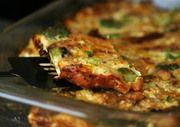 egg recipes, breakfast eggs, mushroom, ham, sausag