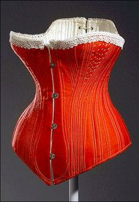 Red With White Trim Corset