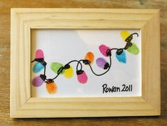 Thumb prints - how cute! What an inexpensive gift idea, yet so meaningful!