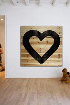 All Heart Brown Distressed Wood Wall Art