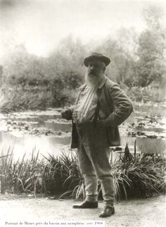French impressionist painter Claude Monet in his beloved garden at Giverny.