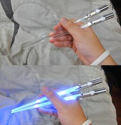 Lightsaber Chopsticks Might Be the Coolest and Geekiest Ever