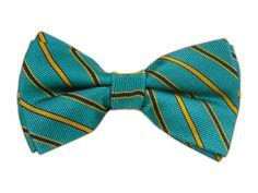 Tender Stripe - Teal (Bow Ties) - Tender Stripe - Teal (Bow Ties)