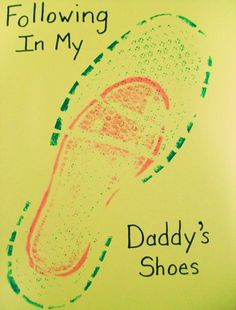 Fathers Day idea awwwww this would be awesome to do with Mr. V and Bug's boot prints...maybe on some antique looking paper