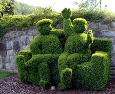 Lovely topiary couple.