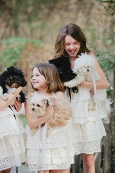 #Flowergirls @ Puppies!!!