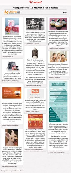 Using Pinterest to market your business #infographic