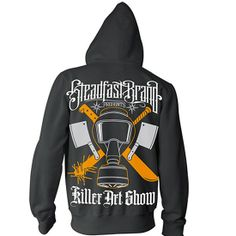 Steadfast Brand's Killer Art Show official Hoodie is the culmination of our Killer Art Show four part event. #InkedShop #gasmask #Hoodie #winter #cold