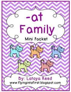 AT Word Family Mini Packet product from Mrs-Reeds-Resources on TeachersNotebook.com