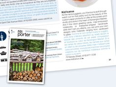 We are thrilled to be included in this issue of re:porter magazine by Porter Airlines!