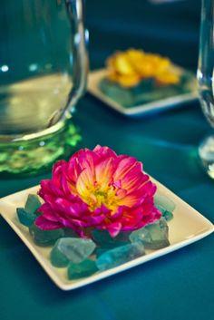 Sea glass Decor #sea_glass_wedding