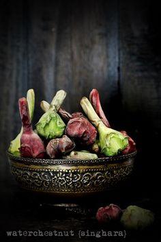 Waterchestnuts {singhara} ...inseason now! How do you like eating them?  #waterchestnut #singhara #inseason #ingredients #foodstyling Waterchestnuts {singhara} ...inseason now! How do you like eating them? #waterchestnut #singhara #inseason #ingredients #foodstyling