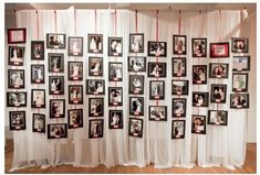 cool photo display idea for a wedding