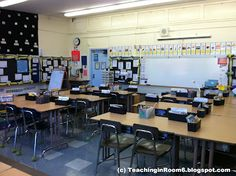 A look into an upper elementary room (beginning of the year set up)