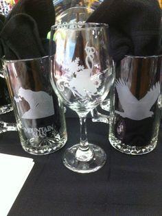 Wine Glasses, Custom Etching....endless possibilities