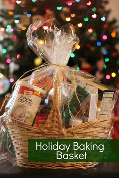 Holiday Baking Basket - baking ideas & a basket giveaway #safewayholiday
