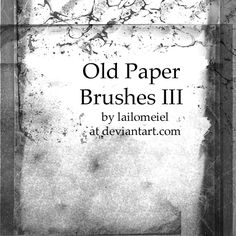 Old Paper Brushes III by ~lailomeiel on deviantART