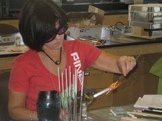 Lampworking Master Class student  www.shopbeadshow.com