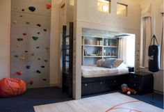 great bunk room for boys...love the rock climbing wall....