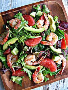 Grapefruit, Shrimp and Avocado Salad