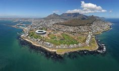 Beautiful aerial shot of Cape Town