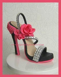 Louboutin Bling Heel Shoe Cake Topper in Fondant