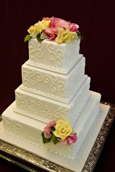 Wedding Cake Square On Pinterest