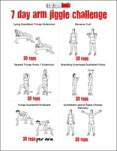 7 Day Arm Jiggle Challenge- Because I always blank on what moves to do and forget something.