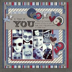Love this multiple picture scrapbook layout.