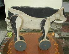 19th Century Folk Art Primitive Toy Cow