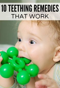 Ease the pain of teething for both your infant and yourself with these teething remedies other parents have found useful... Disregard the alcohol ones obviously.