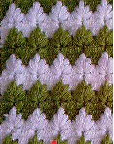 pattern inspir, crochet patterns, spike stitch, crochet leaf stitch