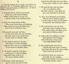 barbara allan a typical ballad essay La belle dame sans merci by john keats generally follows the characteristics of an old ballad such as bonny barbara allan, but.