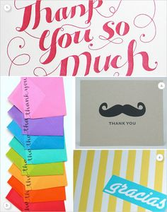 handwritten thank you cards are such a pleasure to receive in the mail!
