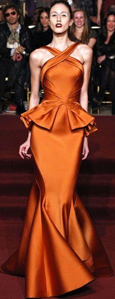 fashion, orang, posen fw, style, dress, posen fall, gown, zacposen, zac posen