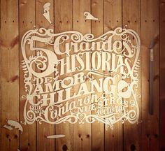 Paper cut typography by Abraham García