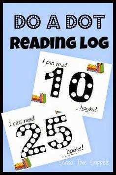 Do A Dot Reading Log {Free Printable}